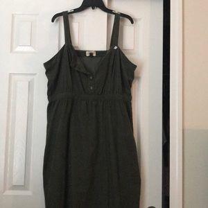 Olive corduroy Dress